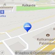 Kartta Neste A24 automaattiasema Kotka, Suomi