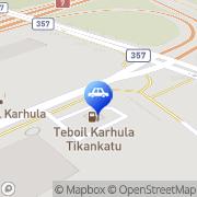Kartta Teboil automaattiasema Kotka, Suomi