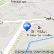 Kartta St1 Mikkeli Mannerheimintie Mikkeli, Suomi