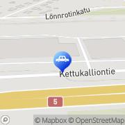 Kartta Kajaanin Sammutinhuolto Kajaani, Suomi
