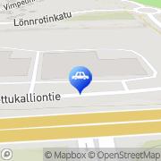 Kartta Autoliike No-Pan Auto Oy Kajaani, Suomi