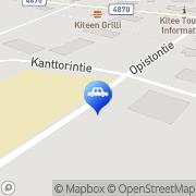 Kartta Neste Oil-automaatti Kitee, Suomi