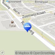Kaart Tankstation Carwash Bosman BV Oud-Beijerland, Nederland