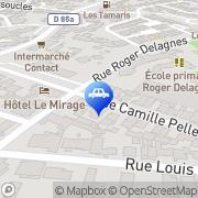 Carte de Appart'Hôtel Bastide Blanche Saintes-Maries-de-la-Mer, France