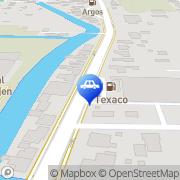 Kaart Texaco Service Station Jer de Fonkert Numansdorp, Nederland