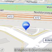 Kaart Total Selfservicestation Rokkeveen Zoetermeer, Nederland