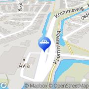 Kaart Avia Self Service H I Ambacht Hendrik-Ido-Ambacht, Nederland