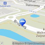 Kaart Esso Brugweg VOF Zwijndrecht, Nederland