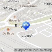Kaart Shell Station Ringdijk Zwijndrecht, Nederland