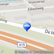 Kaart Haan Tankstation De Helling Alblasserdam, Nederland