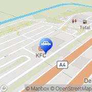 Kaart Shell-Station Ruijgen Hoek Den Hoofddorp, Nederland