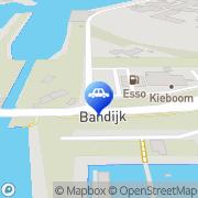 Kaart Kieboom en Zn BV Tankstation A Werkendam, Nederland
