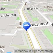 Kaart Total Selfservicestation De Pijp Amsterdam, Nederland