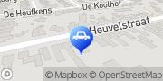 Kaart Autobedrijf Van den Heuvel Veldhoven, Nederland