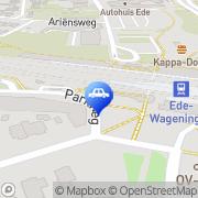 Kaart Total Tankstation Manen, Nederland