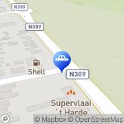 Kaart Shellstation J vd Vegte t Harde, Nederland