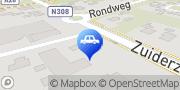 Kaart Schaftenaar's Automobielbedrijf Wezep, Nederland