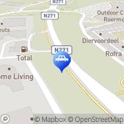 Kaart Total Selfservicestation Broekhin Roermond, Nederland