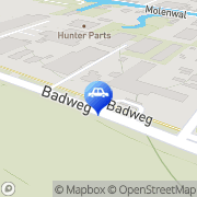 Kaart Swieringa Texaco Service Gorredijk, Nederland
