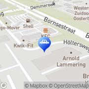 Kaart Roadrunner Texaco Servicestations Hengelo, Nederland