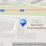 Karte Waldemar Hermann Bergungs- u. Abschleppdienst Inh. Jürgen Groß Oberhausen, Deutschland