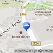 Karte Autohaus Michaeli Solingen, Deutschland