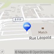 Carte de Supermarché Match Niedermodern, France