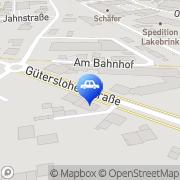 Karte Autohaus Grundmeier GmbH Harsewinkel, Deutschland