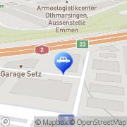 Karte Garage Setz + Ming Emmenbrücke, Schweiz