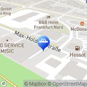 Karte H.M. Motorradhaus & Allround Vermietung GmbH Frankfurt am Main, Deutschland