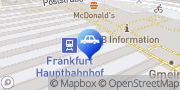 Karte DB BahnPark Parkplatz Bustasche P4 Frankfurt am Main, Deutschland
