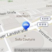 Karte Auto Schaum, Autohaus Georg von Opel Frankfurt am Main, Deutschland