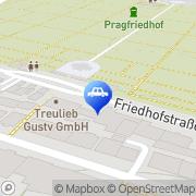 Karte Pragfriedhof Stuttgart, Deutschland