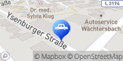 Karte DB BahnPark Parkplatz Bahnhof P3 gegenüber Wächtersbach, Deutschland