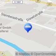 Karte ACC Automotive Coating Center GmbH & Co.KG Urbach, Deutschland