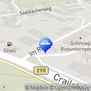 Karte Hubert Huntscha Autolackiererei Blaufelden, Deutschland