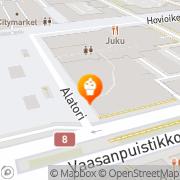 Kartta Café Commerce Vaasa, Suomi
