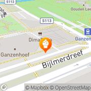 Kaart Bakkerij Ganzepoort Diemen, Nederland
