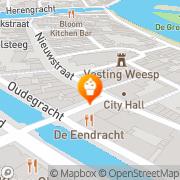 Kaart Nieuwstraat Bakkerij Weesp, Nederland