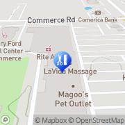 Map LaVida Massage of Commerce Commerce, United States
