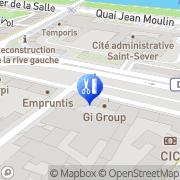Carte de L'Onglerie Studio Rouen, France