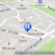Karte Hans Dieter Hösl Massagepraxis Amberg, Deutschland