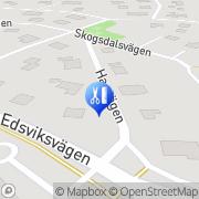Karta Hm Hälsa och Sportkonsult Danderyd, Sverige