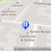 Karta Serratus Fysioterapi Stockholm, Sverige