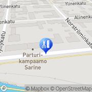 Kartta Parturi-Kampaamo Sarine Uusikaupunki, Suomi