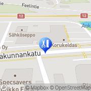 Kartta Parturi-Kampaamo Hiuspalvelu Eura, Suomi