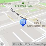 Kartta Hiushuone D.U.O Tmi Turku, Suomi