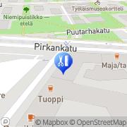 Kartta Kampaamo Häme Tampere, Suomi
