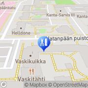 Kartta Parturi-Kampaamo Blue Moon Tampere, Suomi