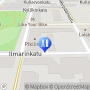 Kartta Parturi-Kampaamo Pikilinna Tampere, Suomi